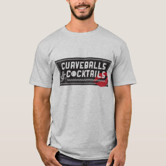 Curveballs and Cocktails Men's T-shirt