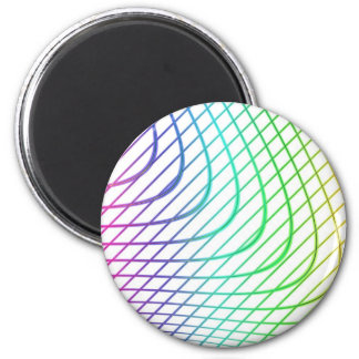 Curved and Straight Lines in Abstract Art Magnets