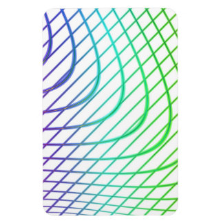 Curved and Straight Lines in Abstract Art Vinyl Magnet
