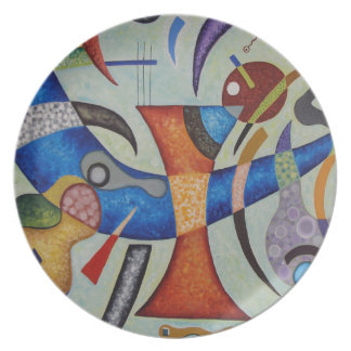 Curved Axis (plate) Melamine Plate