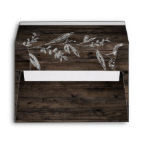 Curved Branches   Wooden Wedding Invitation Envelope