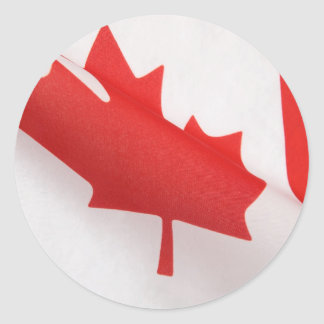 curved Canada flag big stickers