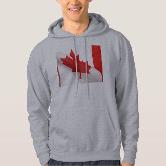 curved Canada flag hoodie sweatshirt