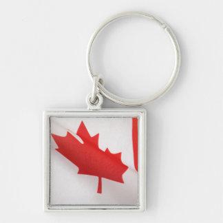 curved Canada flag premium square keychain