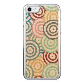 Curved Circles Pattern Carved iPhone 8/7 Case