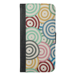 Curved Circles Pattern iPhone 6/6s Plus Wallet Case