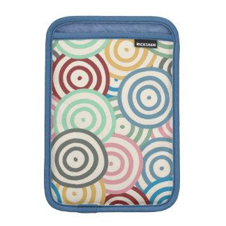 Curved Circles Pattern Sleeve For iPad Mini