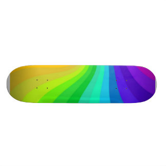 Curved colours skateboard deck