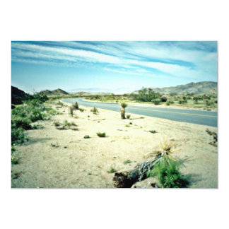Curved Desert Highway 5x7 Paper Invitation Card