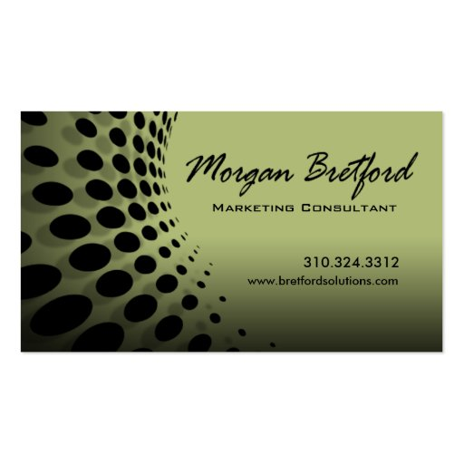 Curved Dots Marketing Consultant PR Image Director Business Card Templates