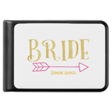 colourarts Curved Golden Bride and Pink Arrow Power Bank