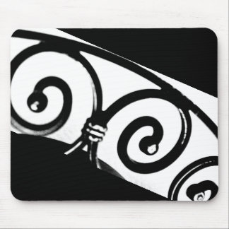 Curved Iron Art Mouse Pad