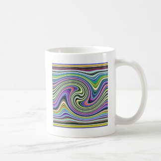 Curved Layers of Colors Classic White Coffee Mug