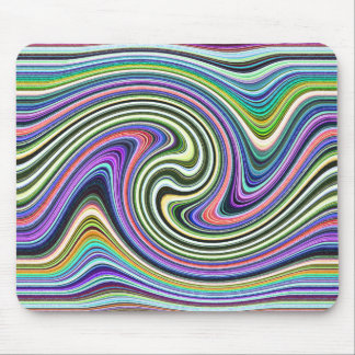 Curved Layers of Colors Mouse Pad