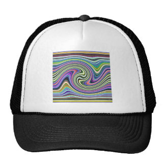 Curved Layers of Colors Trucker Hat