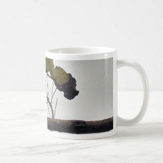 Curved leaves coffee mug