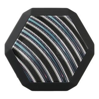 Curved Lines Close Up Of A Fractal Black Bluetooth Speaker