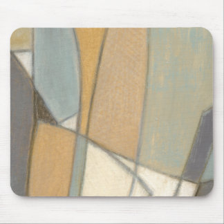 Curved Lines & Muted Earth Tones Mouse Pad