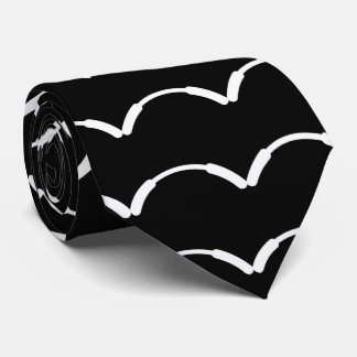 Curved Lines Pictograph Tie