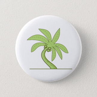 Curved Palm Tree Mono Line Button