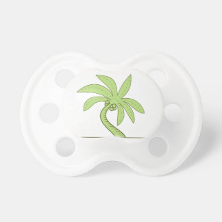 Curved Palm Tree Mono Line Pacifier