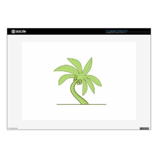 Curved Palm Tree Mono Line Skin For Laptop