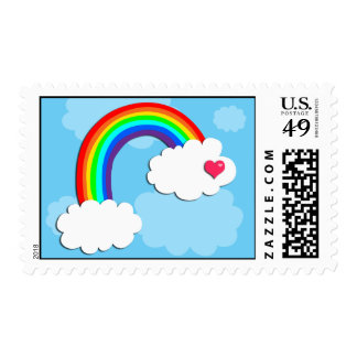 Curved Rainbow Stamp