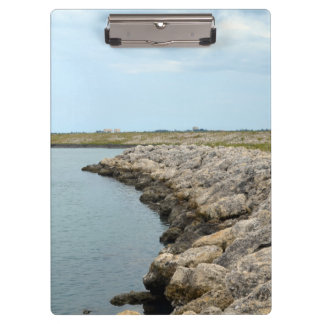 curved rock barrier island in florida ft pierce clipboard