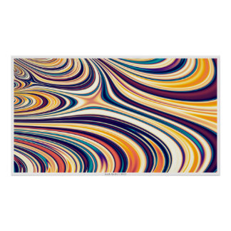 Curved Rounded Lines Flowing Poster