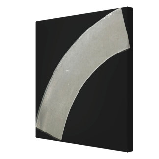 Curved section of high-purity Titanium metal plate Canvas Print