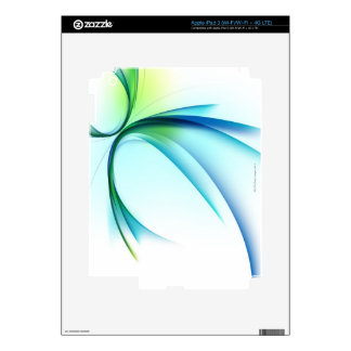 Curved shape on white background decals for iPad 3