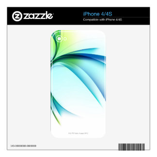 Curved shape on white background iPhone 4 skins