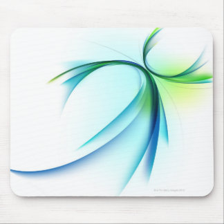 Curved shape on white background mouse pad