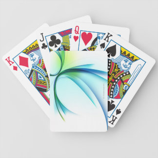 Curved shape on white background card deck