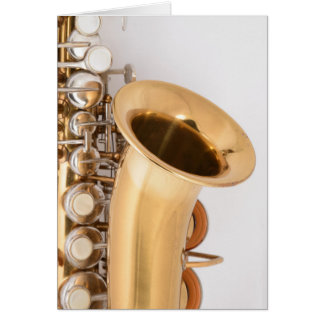 Curved Soprano Saxophone Birthday Card