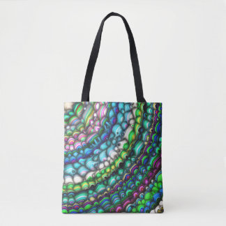 Curved Spectral Shapes Tote Bag