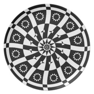 Curved Spiral Dinner Plate