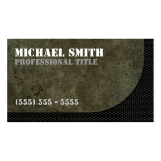 Curved Steel Plate Graphic on Industrial Mesh Business Card Template
