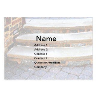 curved stone steps business cards