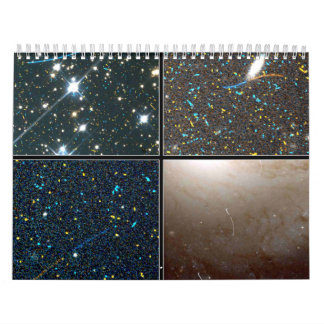 Curved Trails of Small Asteroids Calendars