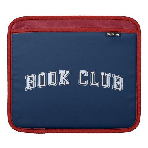 Curved Varsity Style Book Club with Editable Color iPad Sleeve