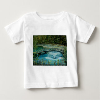 Curved Walking Bridge with Fountain Art Baby T-Shirt