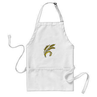 Curved Wheat Adult Apron