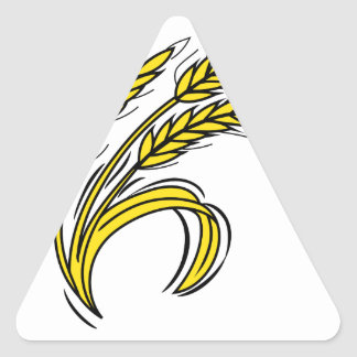 Curved Wheat Triangle Sticker