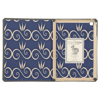 Curved White Line Pattern iPad Air Cover
