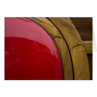 Curved Wood, Red Fender Card