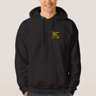 Curved yellow fruit hooded sweatshirts