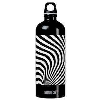 Curved Zebra Stripe Pattern Water Bottle