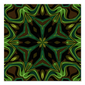Curves and Angles Mandala Print
