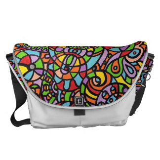 Curves and Spheres Messenger Bag